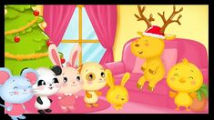 Le grand cerf version Noël- Comptines et chansons pour bébés Titounis - YouTube Tweety, Character, Rhymes Songs, Deer, Rabbits, Lettering