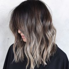 50 ultra balayage hair color ideas for brunettes for spring and summer # f . - 50 ultra balayage hair color ideas for brunettes for spring and summer # fashionaccessories - Ombre Hair Color For Brunettes, Blonde Ombre Hair, Hair Color Streaks, Brunette Color, Hair Color Balayage, Hair Color Ideas For Brunettes For Summer, Gray Hair, Brunette With Balayage, Medium Balayage Hair