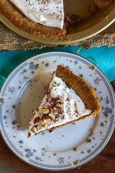 French Silk Chocolate Pie with Hazelnut Crust. I might have to tweak my grandmothers family recipe and add the hazelnut crust, might make it just perfect