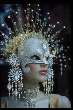 Snow Queen mask for Carnival or masquerade