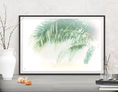 Style your office walls with calm feelings. Palm leaf prints - Printables at FraBor Art.  walldecor #homedecor #interiordesign #painting # modernart #abstract #digital #digitalart #downloadable #printable #affordable #etsy #art #botanical #fraborart