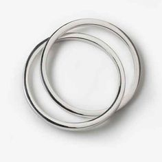 Sterling Silver Interlocking Hollow Bangles by PAZ COLLECTIVE