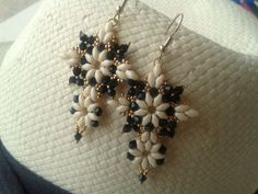 Beadwork Superduo earrings