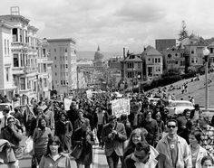 ●  Hmmm .... Interesting!  - Perhaps one of the most poignant moments of the movement was on October 21st, 1967. 100,000 hippies, liberals and others marched peacefully on the Pentagon in an attempt to levitate it. They were met with a human barricade of 2,500 soldiers surrounding the Pentagon. And soon enough, violence erupted when the more radical protestors clashed with US Marshals. The protest lasted for almost three days before order was restored.