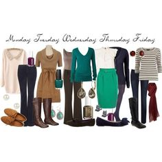 Teacher Outfits on a Teacher's Budget: A Week of Fall Teaching -- nice work wardrobe even for non teachers! Description from pinterest.com. I searched for this on bing.com/images