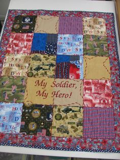 Deployment quilt but with MARINES :) just love the idea