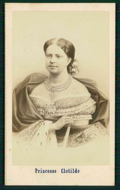 Princess Maria Clotilde of Savoy was a daughter of King Victor Emmanuel II. She resembled him more than her attractive mother, Archduchess Adelaide of Austria. She married Prince Napoleon Bonaparte, nephew of the Emperor. Clotilde and her prince had three children.