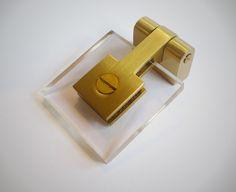 acrylic + brass hinged pull   nest studio