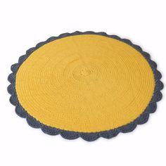 Crochet Rug Sunflower