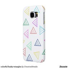 colorful funky triangles samsung galaxy s6 cases
