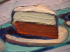 Wayne Thiebaud, cake painting ...close up