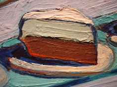 Wayne Thiebaud, cake painting ...close up