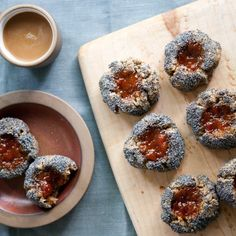 buckwheat poppy thumbprint cookies
