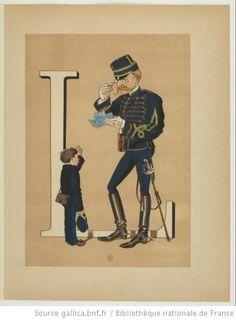 Armée française : nouvel alphabet militaire, texte explicatif de Vanier,... et dessins par H. de Sta, 1883