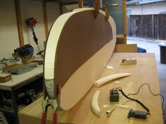 """I finally shaped my first SUP surfboard. """"Did it my way"""".."""