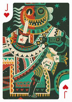 Jack of Hearts by Steve Simpson – Edition One – Playing Arts Cool Playing Cards, Hearts Playing Cards, Cool Cards, Jack Of Hearts, Collaborative Art Projects, Deck Of Cards, Card Games, Game Cards, Illustrators