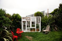 window backyard cottage/greenhouse