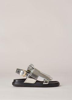 Totokaelo - Marni Silver Fussbett Sandal