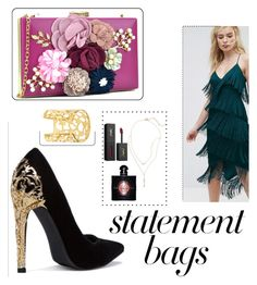 """""""Gold accents"""" by audreypoe on Polyvore featuring ASOS, BP., Yves Saint Laurent and statementbags"""