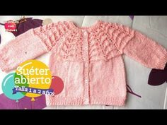 Baby sweater 1 to 2 years old Knitting For Kids, Baby Knitting, Crochet Baby, Knit Crochet, Pull Bebe, Baby Pullover, Baby Sweaters, Youtube, Tops