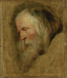 RUBENS Pieter Paul - Flemish (Siegen Antwerp) ~ study of the eldest of the three magi Peter Paul Rubens, Pierre Paul, Old Master, Rembrandt, Our Lady, Impressionist, Painting & Drawing, Sculpting, Drawings