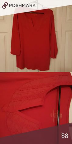 Lacey Red 100% cotton comfy Tops