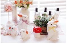Woodland Rabbit, Baby bunny and mushroom night lights #bunnyinabow