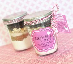 The Favors Boutique | Cookie Mix Mason Jar Recipe Tags