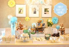Children�s Book Themed Baby Boy Shower! on http://pizzazzerie.com