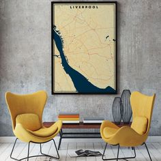 FREE SHIPPING WITHIN EU AND USA  We love minimal design and minimal interiors. Our posters and prints will tell you that. We also love city maps. Warm schemes of this poster are perfect for warm interiors. Get if personalized if needed. Head to Etsy for details.    #cityposter #cityprint #wallart #walldecor #homedecor #homedesign #minimalisticwallart #moderninteriordesign #warminterior #warmcolors Hallway Wall Decor, Hallway Ideas, Minimalist Poster Design, Minimal Design, Map Wall Art, Map Art, Liverpool Poster, Personalized Posters, City Maps