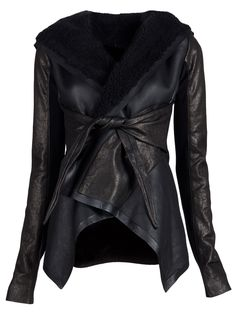 Shearling jacket in black
