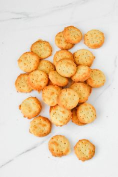 Mini Cheddars {Gluten-free, Low Carb}  1/4 cup almond flour, 1 + 3/4 cup grated cheddar cheese, 2 tbsp or 1/4 stick of butter, and 1/4 cup coconut flour