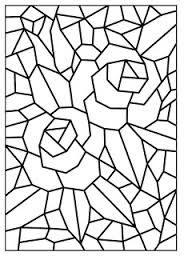 Resultado de imagem para mosaico para colorir romero brito