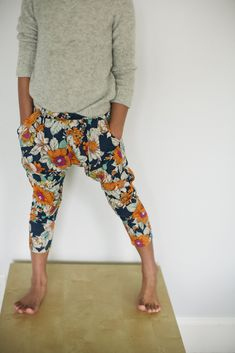 Floral Harem Pants (yoga, style, fashion, flowers, fabric)