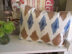 DIY Faux Ikat Pillow w/ markers
