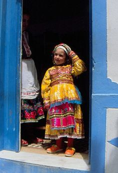 girl's costume from the Greek island of Karpathos