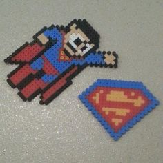 Superman hama beads by spidermancat