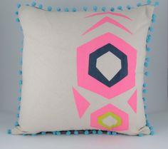 Geometric print ' Mex Tex' hand screen printed cushion