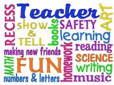 Teacher (preschool and kindergarten) Subway Art