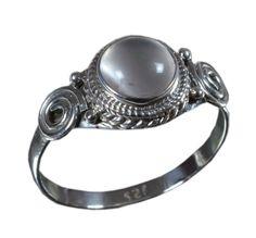 925 Solid Sterling Silver Ring Natural Rose Quartz Gemstone US Size 6.25 JSR-842 #JaipurSilver