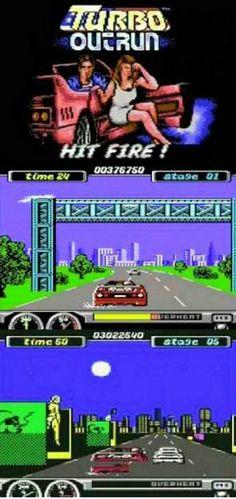 Turbo OutRun Commodore 64 screenshots
