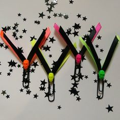 Neon Gothic Skull Paperclip Set - Planner/Journal/Bookmark - Erin Condren, Kikki K, Happy Planner -…