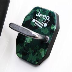 Military Camouflage UV Printed Door Lock Striker for Jeep Grand Cherokee Patriot #BRICX