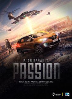 Posters Renault Art Direction, Background Images, Adobe Illustrator, Advertising, Behance, Photoshop, Layout, Graphic Design, Illustration