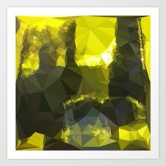 Electric Lime Yellow Abstract Low Polygon Background Low polygon style illustration of an electric lime yellow abstract geometric background. #illustration  #ElectricLimeYellowAbstract