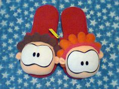 Pantuflas Wero y Wamba. Hecho a mano. Diseñamos lo que te gusta