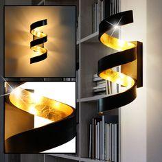 Flur Strahler UpDown Wand Lampen moderne Schlaf Wohn Zimmer Leuchten weiß//gold