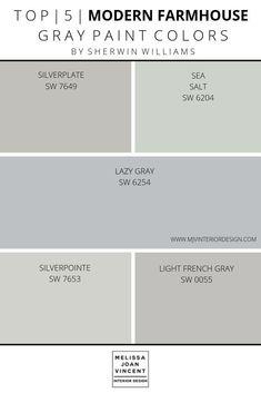 Paint Palette Selection — Melissa Joan Vincent - Best paint colors for whole house -