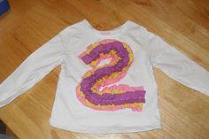 ruffle number shirt