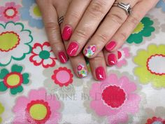 CND Shellac with hand painted Shellac Cath Kidston inspired art xDBDx